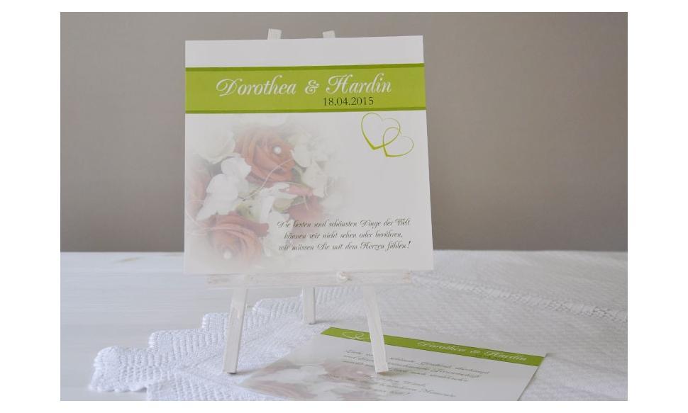 Tischkarte für Gruppentische Hochzeit