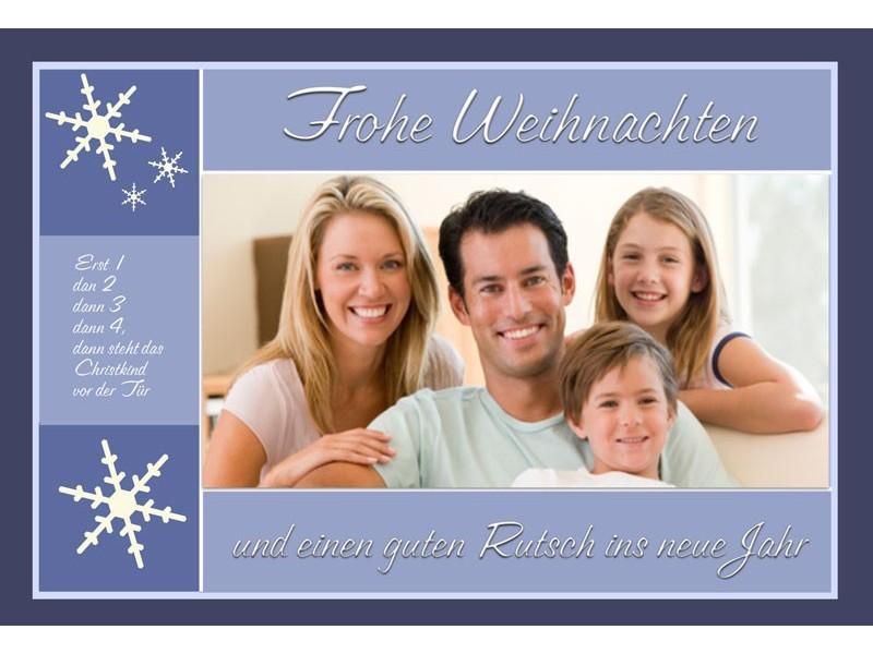 fotokarte weihnachten weihnachtskarte 10x15 cm taube. Black Bedroom Furniture Sets. Home Design Ideas