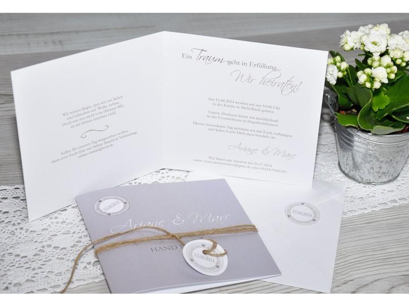 Hochzeitseinladung, Einladung Hochzeit, Einladungskarten, braun