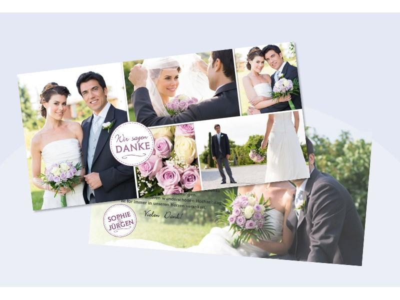 """Danksagungskarte Hochzeit, """"Wir Sagen Danke"""""""