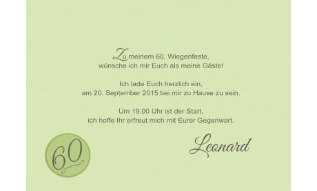 Einladung Zum 60 Geburtstag Herzlich Hellblau
