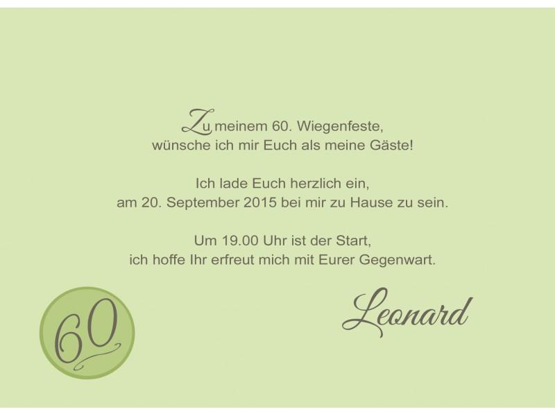 """Einladung 60. Geburtstag """"Herzlich"""" Hellblau"""