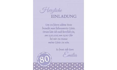 """Einladung zum 60. Geburtstag """"Herzlich"""" hellblau"""
