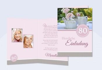 Geburtstagseinladungen, Einladung 50. Geburtstag - SagesmitHerz.de