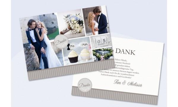 """Danksagungskarte Hochzeit """"Mr. & Mrs."""""""