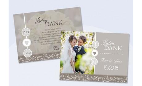 """Danksagungskarte Hochzeit, """"Verliebt"""""""