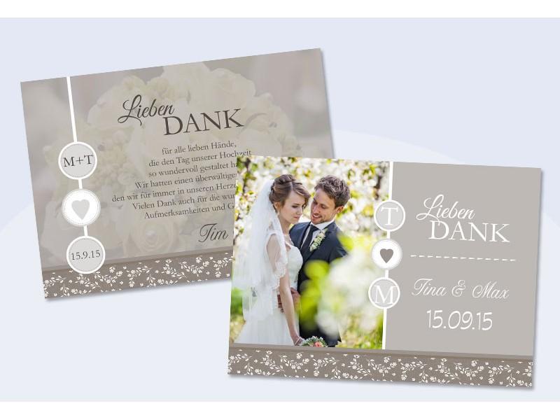 Danksagungskarte Hochzeit Verliebt