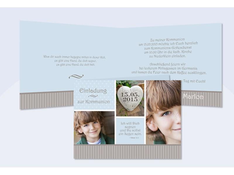 einladungskarten kommunion konfirmation mit fotos - sagesmitherz.de, Einladungsentwurf