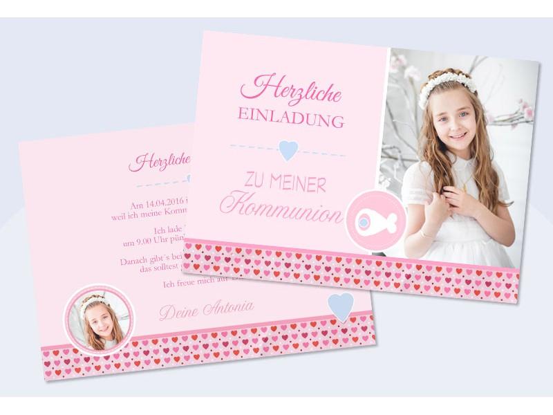 Einladungskarten Kommunion Konfirmation Mit Fotos   Sagesmitherz.de,  Einladungsentwurf