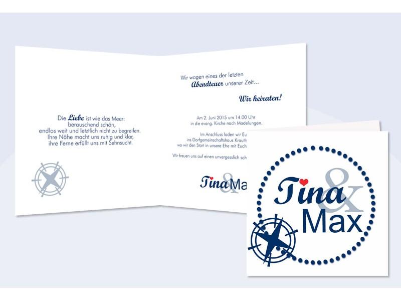 """Einladung Hochzeit """"Maritim"""""""