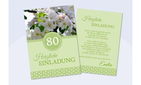 Einladung zum 80. Geburtstag grün