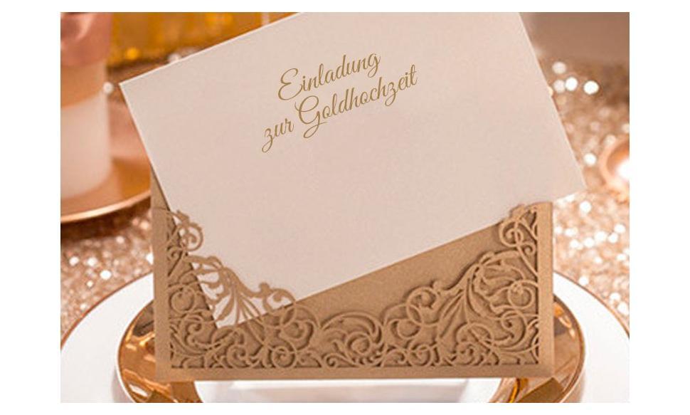 Einladungskarte zur Goldhochzeit
