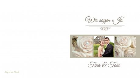 Einladungskarte Hochzeit, moderner Vintage Stil