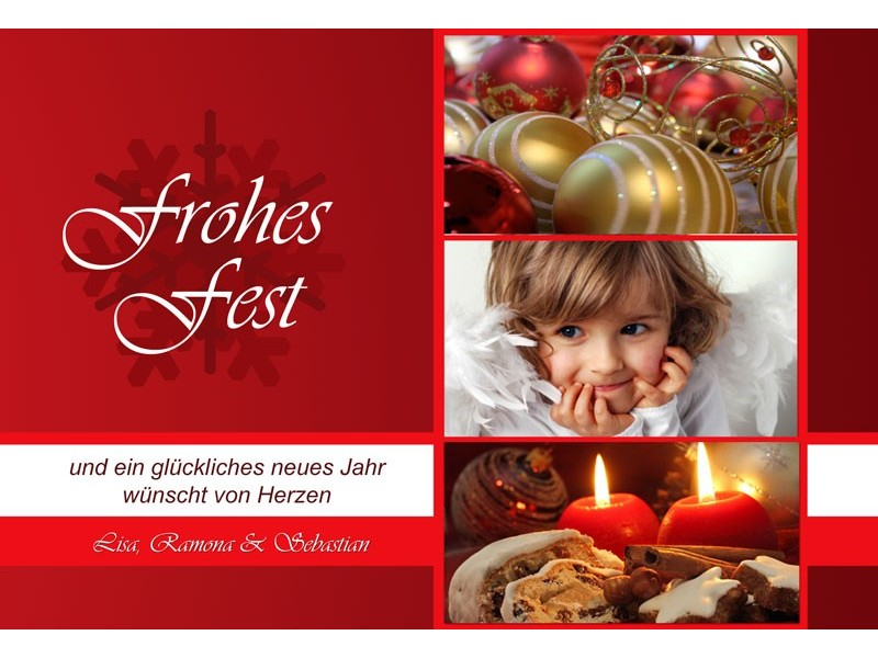 fotokarte weihnachten weihnachtskarte 10x15 cm rot. Black Bedroom Furniture Sets. Home Design Ideas
