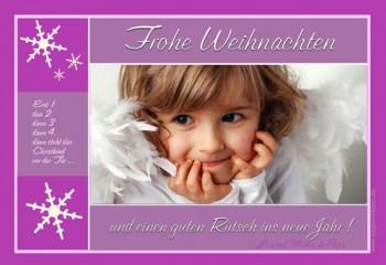 Fotokarte Weihnachten, Weihnachtskarte 10x15 cm, beere