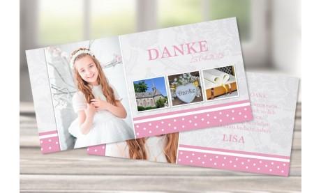 """Danksagungskarte Konfirmation Kommunion, """"Prinzessin"""""""