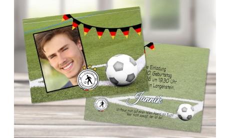 """Einladung zum runden Geburtstag """"Fußball EM"""""""