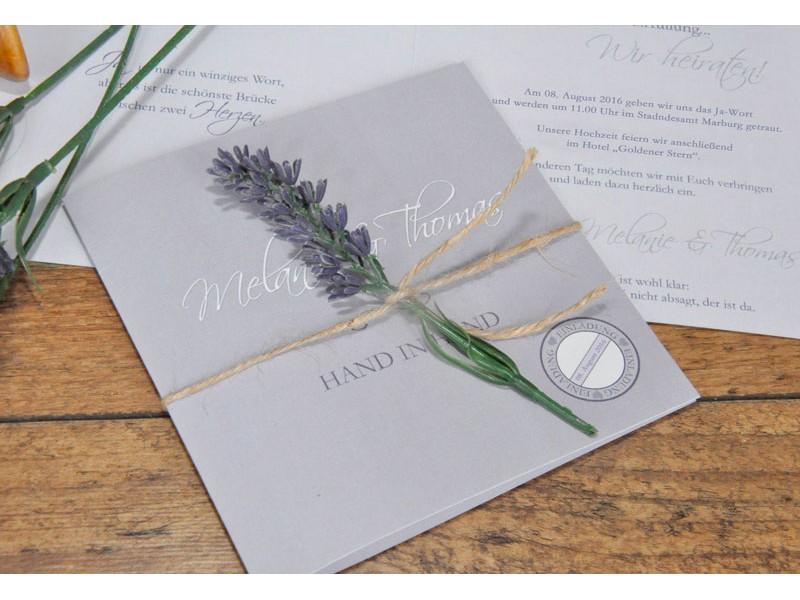 """einladungskarte hochzeit """"lavendel"""" fliederfarben, Einladungsentwurf"""