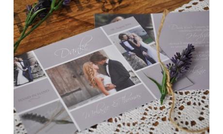 Danksagungskarte, Karte Hochzeit, romantisch