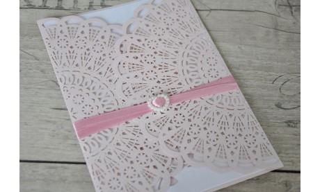 """Hochzeitseinladungen Vintage """"Mädchentraum in rosa"""""""