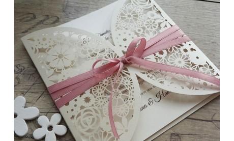"""Einladungskarte Hochzeit """"Blümchen"""""""