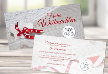"""Firmen Weihnachtskarte """"Sternenzauber"""""""