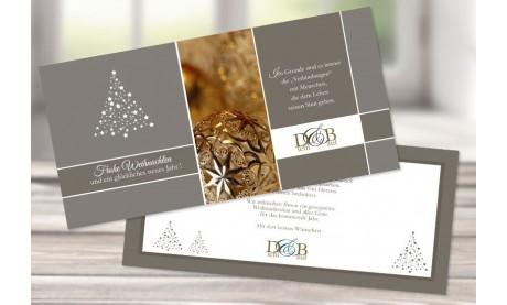 """Firmen Weihnachtskarte """"Funkelnder Stern"""" mit Logo"""