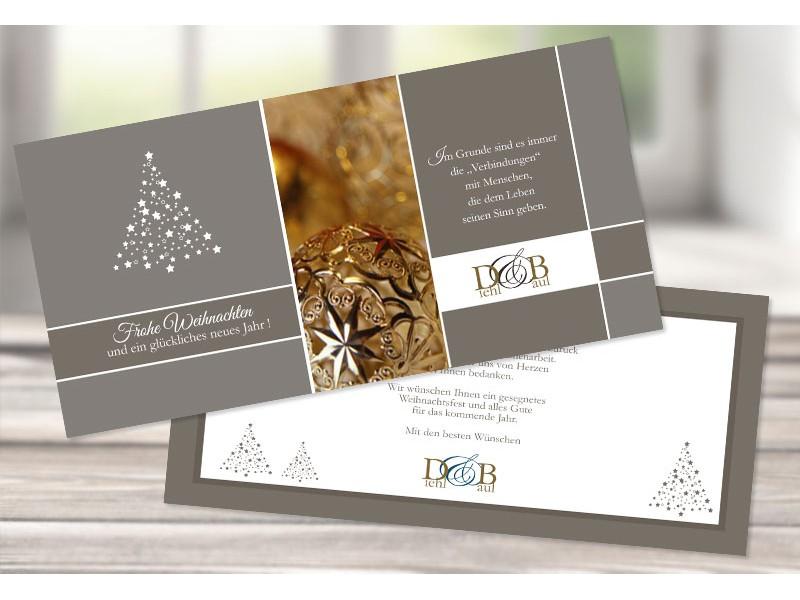 firmen weihnachtskarte funkelnder stern mit logo. Black Bedroom Furniture Sets. Home Design Ideas