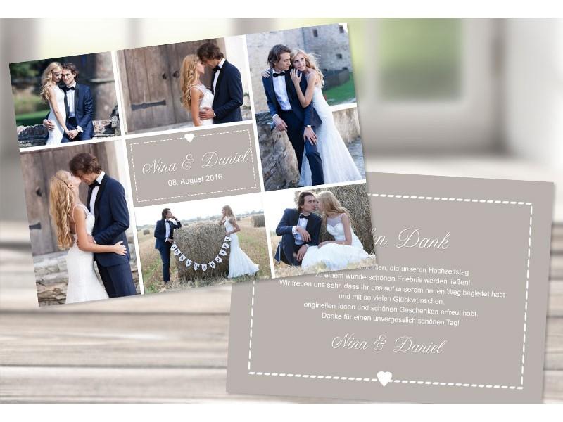 Danksagungskarte Hochzeit, \