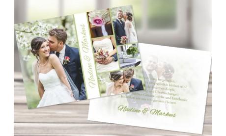 """Danksagungskarte Hochzeit, """"Sommerliebe"""" grün"""
