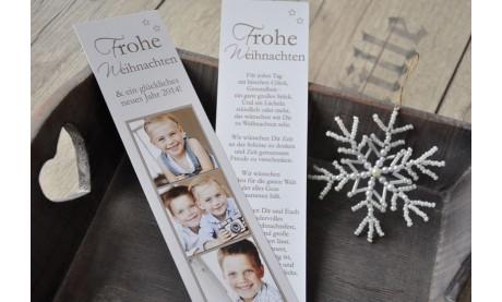 Lesezeichen Weihnachten, 5x20 cm, braun