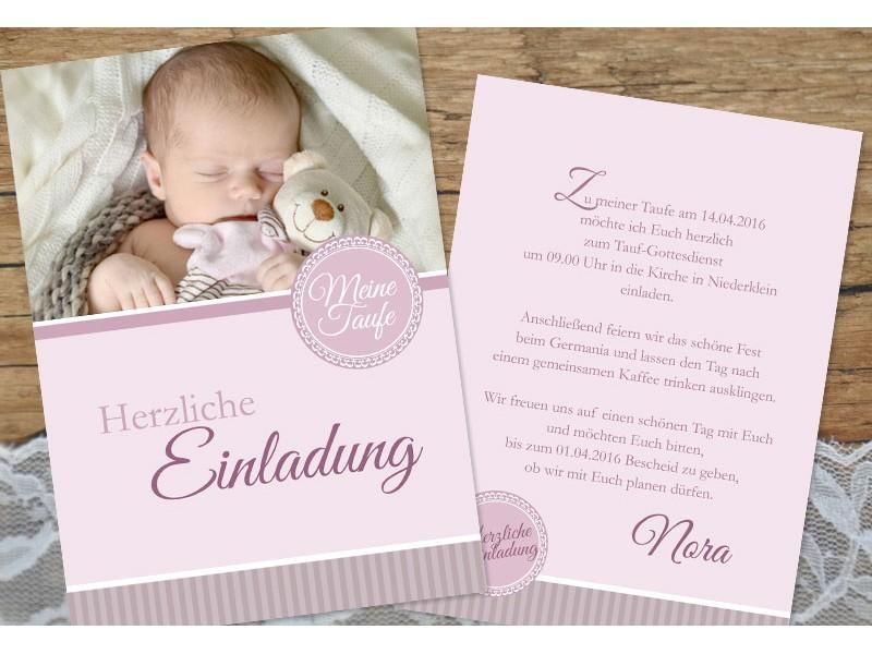 lovely Tauf Einladungskarten #2: SagesmitHerz.de