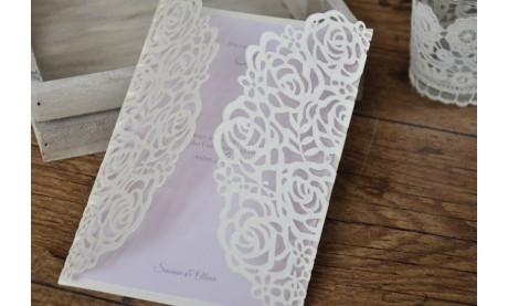 """Hochzeitseinladungen """"Vintage Rose"""""""