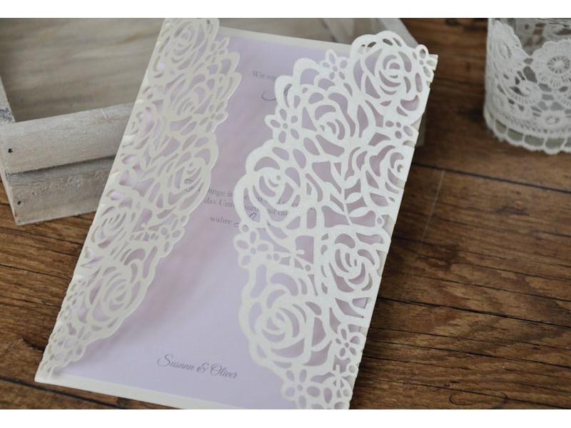 Hochzeitseinladungen Vintage Rose