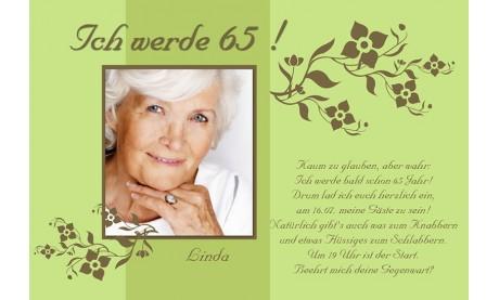 "Einladung Geburtstag ""Linda"", Fotokarte 10x15 cm, grün"