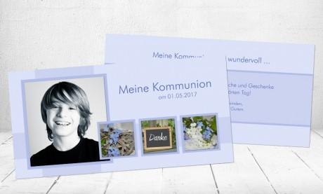 """Danksagungskarte Konfirmation Kommunion Danksagung DIN Lang """"Melanie"""""""