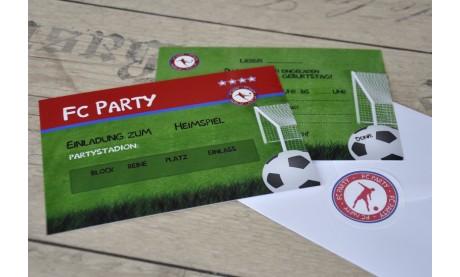 Einladungskarten Kindergeburtstag Fußball