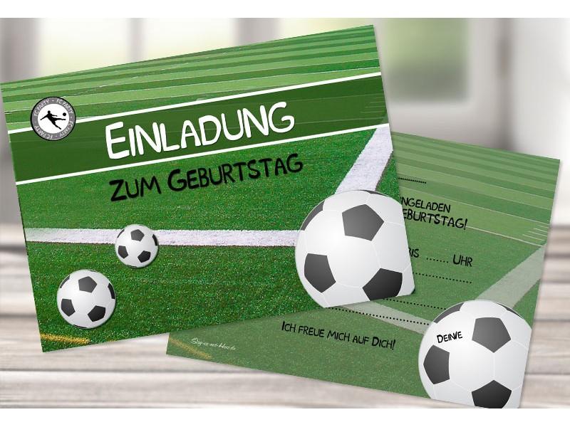 Einladungskarten Kindergeburtstag Fußball, Einladungs