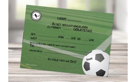 Einladungskarten Kindergeburtstag Fussball