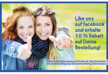 10 % Rabatt für Facebook Like