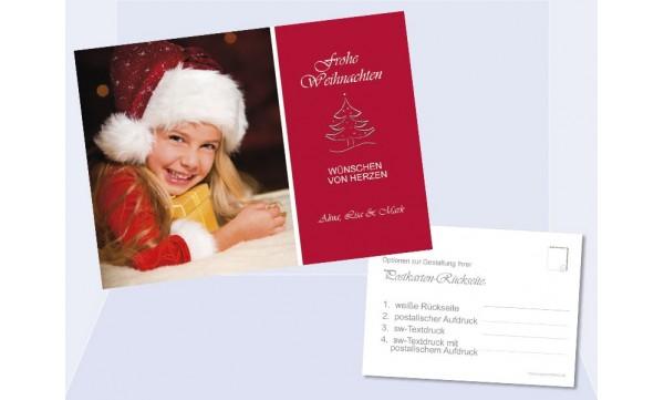 postkarte weihnachten weihnachtskarte 10x15 cm rot. Black Bedroom Furniture Sets. Home Design Ideas