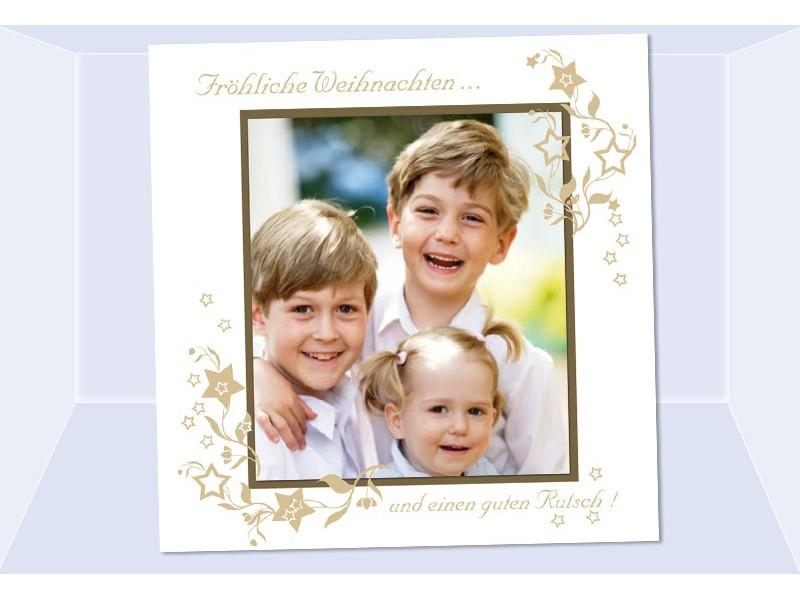 fotokarte weihnachten weihnachtskarte 12 5x12 5 cm wei. Black Bedroom Furniture Sets. Home Design Ideas
