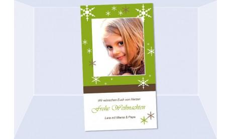 Fotokarte Weihnachten, Weihnachtskarte, 10x18, grün braun