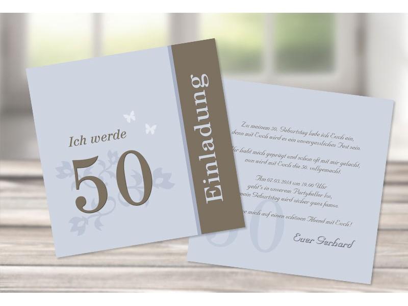 Geburtstagseinladungen Einladung 50 Geburtstag 5 Sagesmitherzde