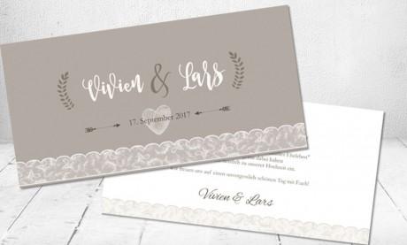 """Vintage Diy Hochzeitseinladungen """"Spitze"""""""
