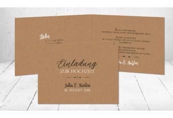 """Einladungskarte Hochzeit """"Vintage Diy"""""""
