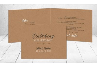Einladungskarte Hochzeit Vintage Diy