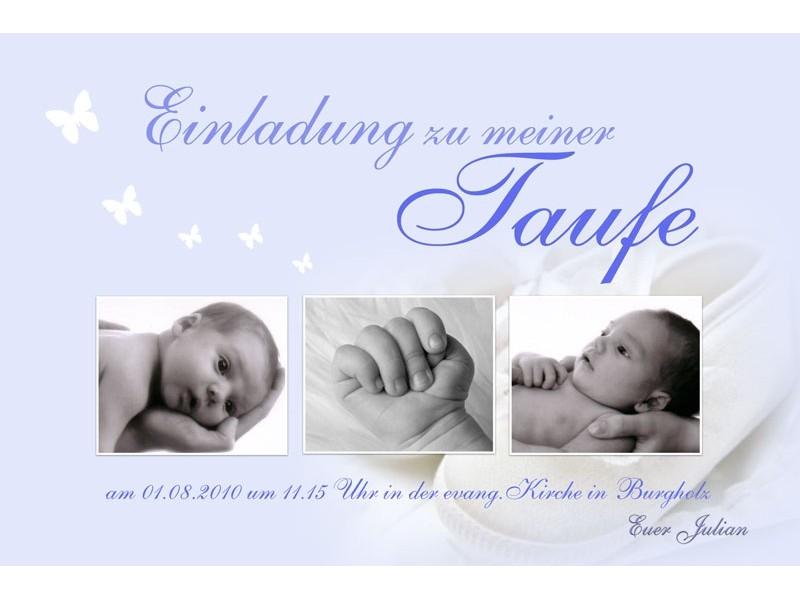 Taufkarten: Einladungen Taufe (2)   Sagesmitherz.de, Einladung