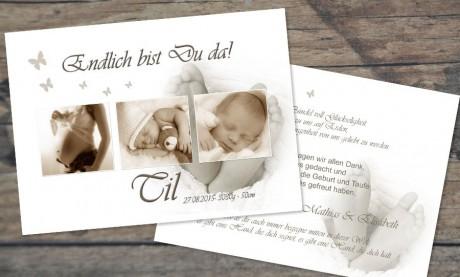 "Danksagungskarte Geburt ""Kilian"""