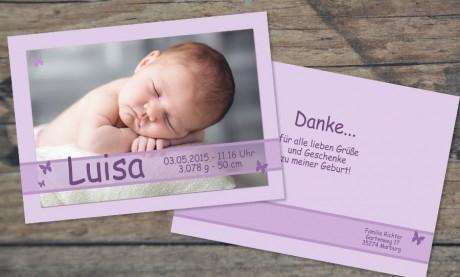 """Danksagungskarte, Karte zur Geburt DIN A6 """"Stricknestchen"""""""